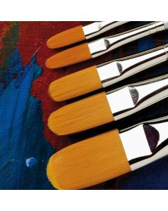 Specialist Crafts Premium Long Handled Synthetic Filbert Brushes