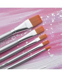 Specialist Crafts Premium Short Handled Synthetic Flat Brushes