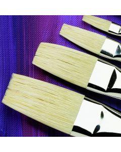 Specialist Crafts Premium Short Handled Hog Flat Brushes