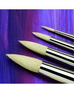 Specialist Crafts Premium Short Handled Hog Round Brushes