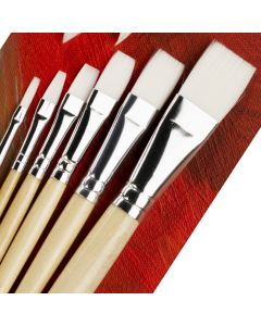 Specialist Crafts Essential Long Handled Synthetic Flat Brushes