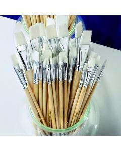 Essentials Flat Synthetic Watercolour Brush Bulk Pack