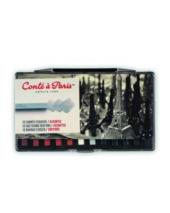 Conte Carres - Traditional Colours. Set of 12