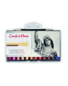 Conte Carres Portrait Colours. Set of 12