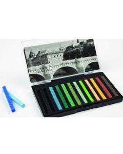 Conte Carres Landscape Colours. Set of 12