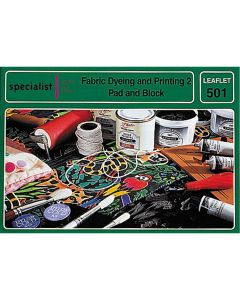 Fabric Dyeing and Printing 2 - Pad and Block Printing Craft booklet