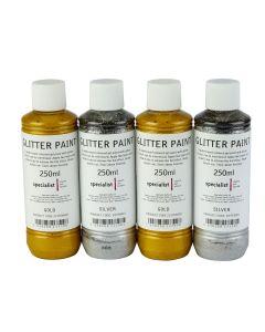 Specialist Crafts Glitter Paint - Metallics - Silver