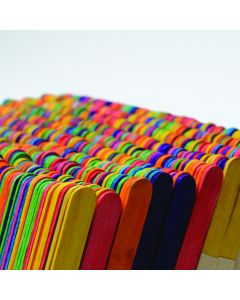 Coloured Lollypop Sticks Pack