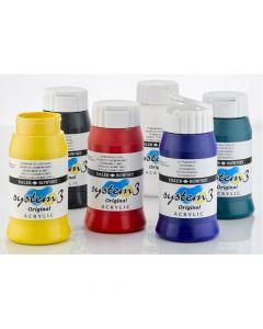 System 3 Original Acrylic Colours 500ml Set 1