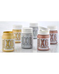 X6 Premium Acryl 500ml Metallic Set