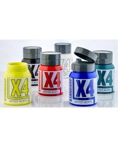X4 Standard Acryl 500ml Assorted Set 1 - Set of 6
