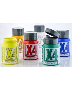 X4 Standard Acryl 500ml Assorted Set 3 - Set of 6