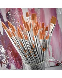 Student Short Handled Synthetic Brush Class Pack of 140