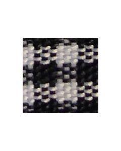 Checked Ribbon 10mm x 5 Metre Roll - Black