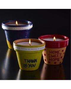 Terracotta Pots Candle Kit