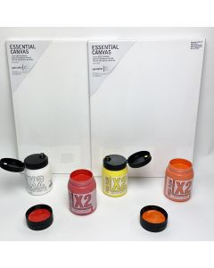 Acrylic Pouring Kit - Yellow and Red