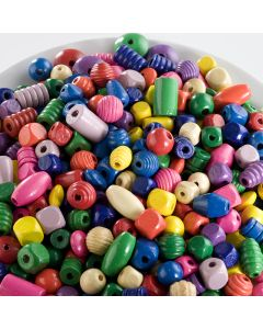 Coloured Wooden Bead Assortment