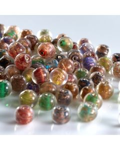 Gold Sparkle Glass Beads