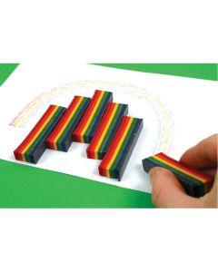 Rainbow Crayons. Pack 25