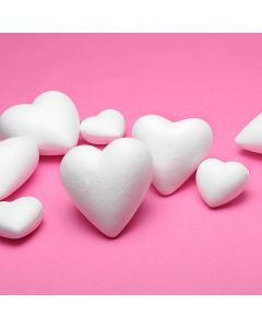 Polystyrene Hearts. 110mm dia. Pack of 10