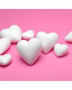 Polystyrene Hearts - 50mm dia