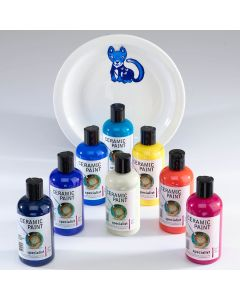 Specialist Crafts Ceramic Paints Set. Set of 8