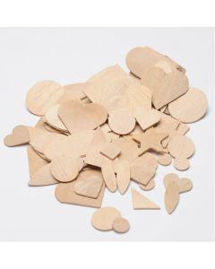 Natural Wooden Assorted Shapes. Pack of 320