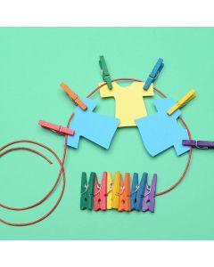Coloured Mini Display Pegs Pack