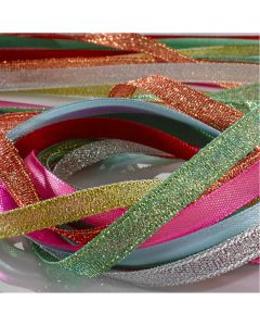 Satin & Ribbon Glitter Pack. Per pack