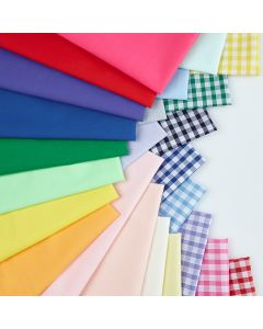 Polycotton Fat Quarter Class Pack. Pack of 24