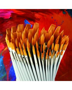 Student Long Handled Synthetic Brush Class Pack