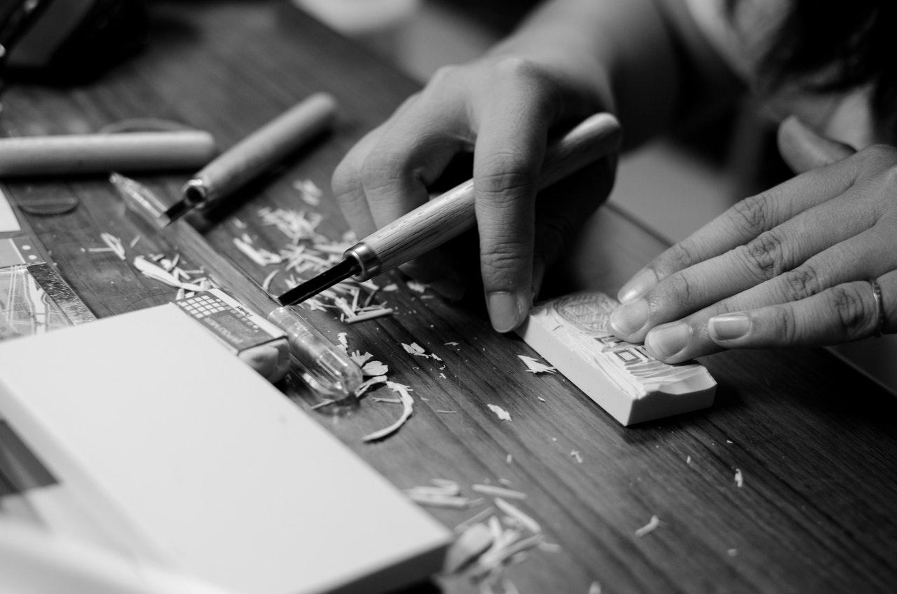 Carving a Linoleum Block